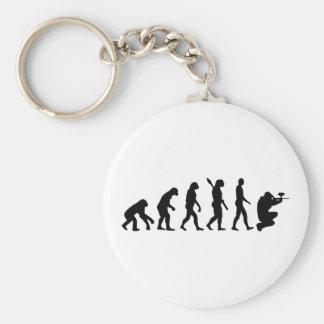 Paintball evolution basic round button keychain