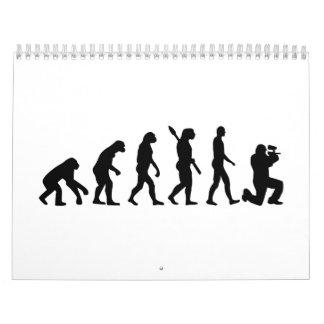 Paintball evolution calendar