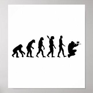 Paintball evolution poster