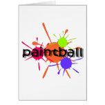 Paintball fresco tarjeta