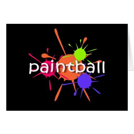 Paintball fresco tarjetón