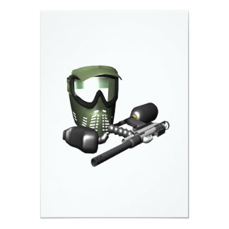 Paintball Gear 2 5x7 Paper Invitation Card