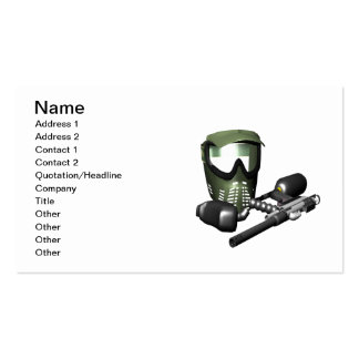 Paintball Gear 2 Double-Sided Standard Business Cards (Pack Of 100)