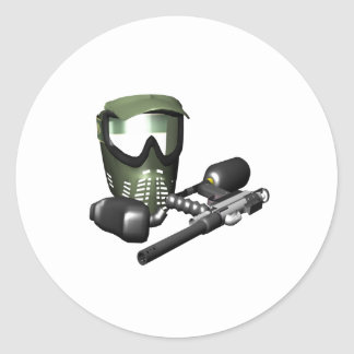 Paintball Gear 2 Classic Round Sticker