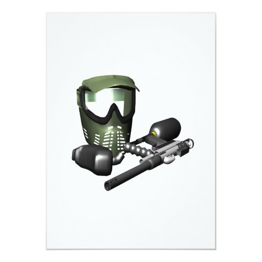 Paintball Gear 2 Personalized Announcements