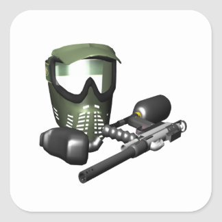 Paintball Gear 2 Square Stickers