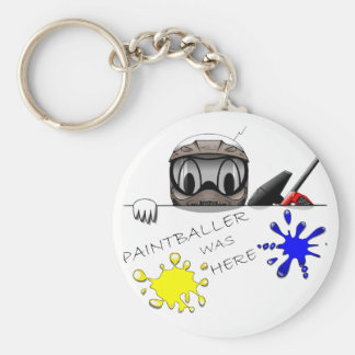 Paintball Gear Basic Round Button Keychain