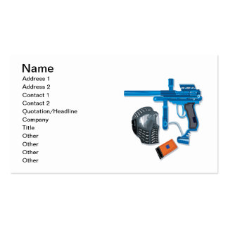 Paintball Gear Double-Sided Standard Business Cards (Pack Of 100)