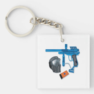 Paintball Gear Double-Sided Square Acrylic Keychain