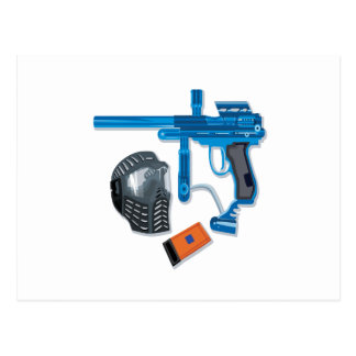 Paintball Gear Postcard