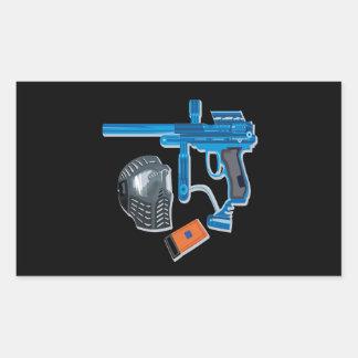 Paintball Gear Rectangular Stickers