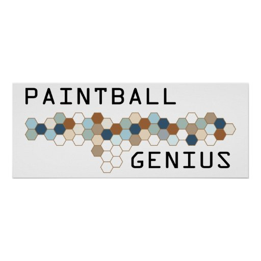 Paintball Genius Poster