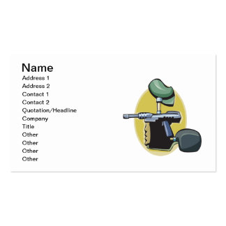 Paintball Gun 3 Double-Sided Standard Business Cards (Pack Of 100)