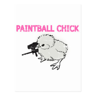 Paintball Gun Chick Postcard