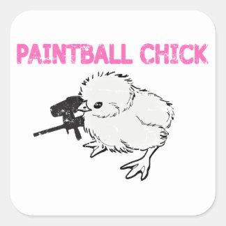 Paintball Gun Chick Stickers