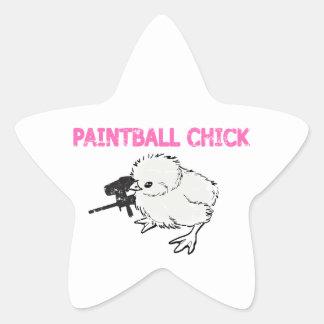 Paintball Gun Chick Sticker