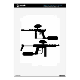 Paintball Gun Decal For iPad 3