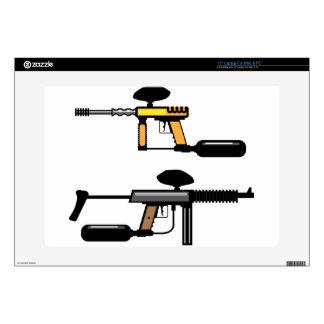 "Paintball Gun Decals For 15"" Laptops"