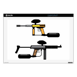 "Paintball Gun Decals For 17"" Laptops"