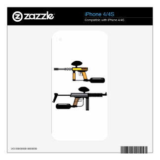 Paintball Gun Decals For The iPhone 4