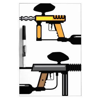 Paintball Gun Dry-Erase Board