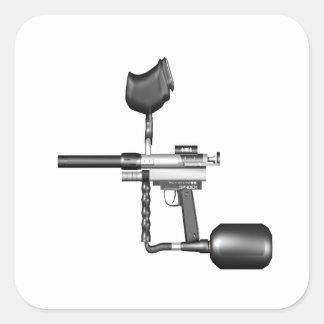 Paintball Gun Square Stickers