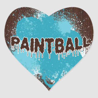 Paintball Heart Stickers