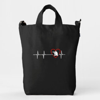 Paintball heartbeat design duck bag