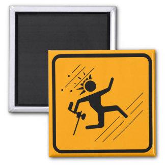 Paintball Icon Yellow Diamond Warning Sign Magnet