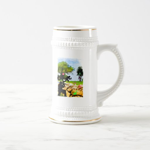 Paintball in the Spring 18 Oz Beer Stein