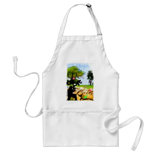 Paintball in the Spring Adult Apron