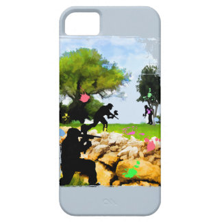 Paintball in the Spring iPhone 5 Cover