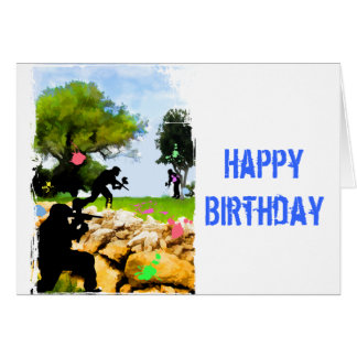 Paintball in the Spring Greeting Card