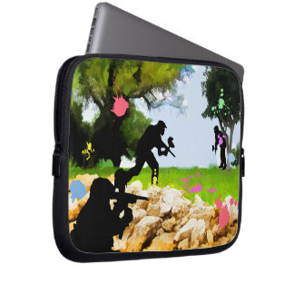 Paintball in the Spring Laptop Computer Sleeves