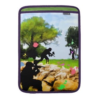 Paintball in the Spring MacBook Air Sleeve
