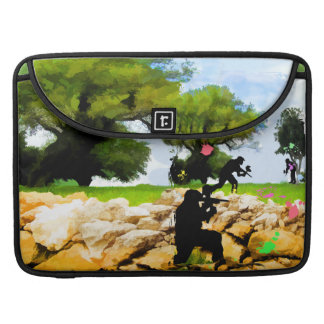 Paintball in the Spring Sleeve For MacBook Pro