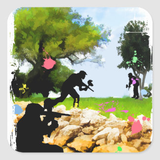 Paintball in the Spring Square Sticker