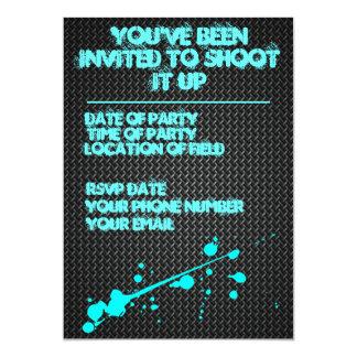 "Paintball Invitation 5"" X 7"" Invitation Card"