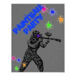 paintball invite1 4.25x5.5 paper invitation card