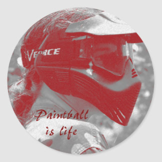 Paintball is Life Classic Round Sticker