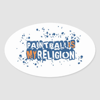 Paintball Is My Religion Sticker