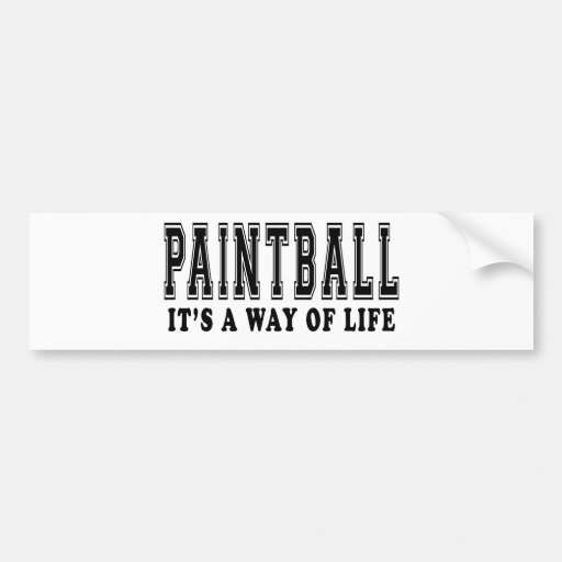 Paintball It's way of life Bumper Stickers