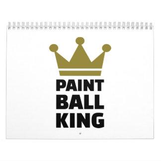 Paintball king crown calendar