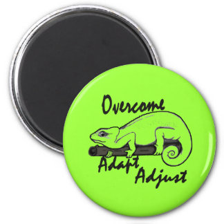 Paintball Lizard Overcome 2 Inch Round Magnet