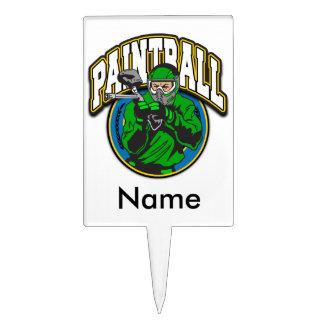 Paintball Logo Cake Topper