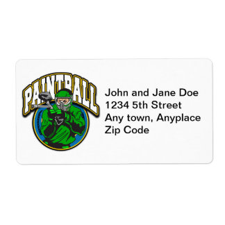 Paintball Logo Shipping Labels