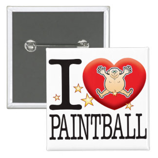 Paintball Love Man Button