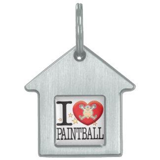 Paintball Love Man Pet ID Tag