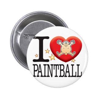 Paintball Love Man Pinback Button