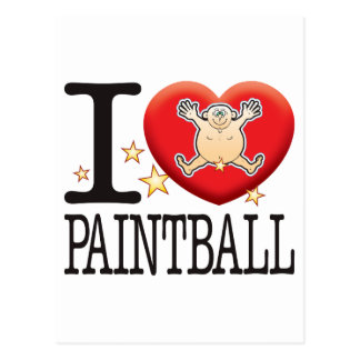 Paintball Love Man Postcard